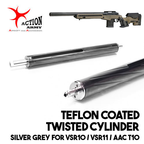 Teflon Coated Twisted Cylinder Silver Grey / VSR10,11,AAC10